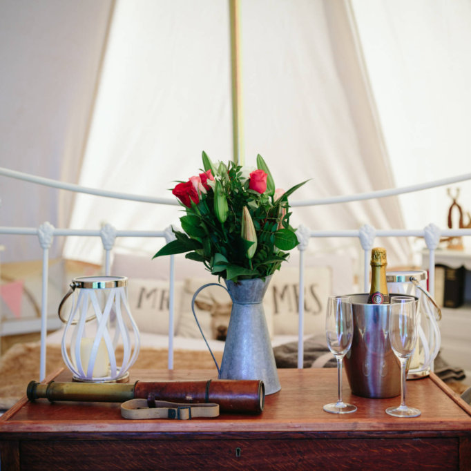 Inside the Honeymoon Tent