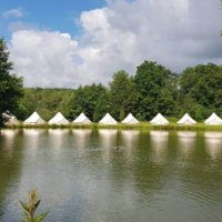 Bell Tents by the lake