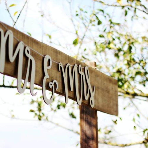 Wooden Mr Mrs sign